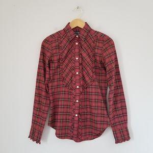 Ralph Lauren Sport Plaid Long Sleeve Cotton Shirt